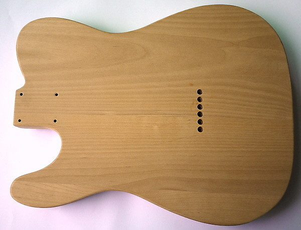 Eden Alder Wood Body For Tele Guitar Natural Finish Clear Gloss Hardtail