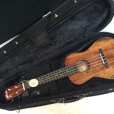 HILO 2955 Solid Koa acoustic concert UKULELE new UKE w/ Light CASE for sale