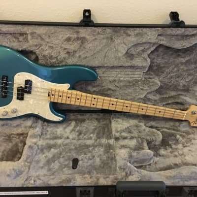 Fender American Elite Precision Bass 2017 Ocean Turquoise for sale