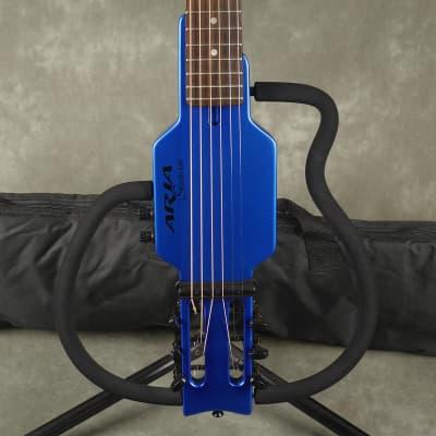 Aria Sinsonido Steel String Travel Guitar - Blue w/Gig Bag - 2nd Hand for sale