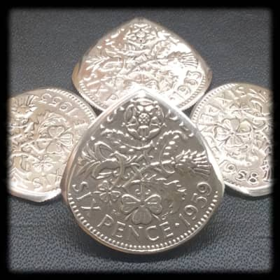 One Brian May Inspired Queen Elizabeth Sixpence Coin Guitar Pick. 1953 to 1967 Available