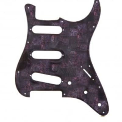 Fender Stratocaster Q-Parts Purple Abalone Shell Pickguard for sale