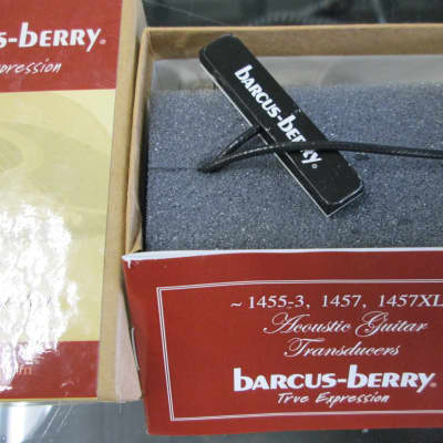 "Barcus-Berry 1455-3 Acoustic Guitar Pickup ""Insider"" Piezo Transducer with Fas-Jac"