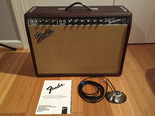 fender 39 65 reissue deluxe reverb limited edition wine red reverb. Black Bedroom Furniture Sets. Home Design Ideas