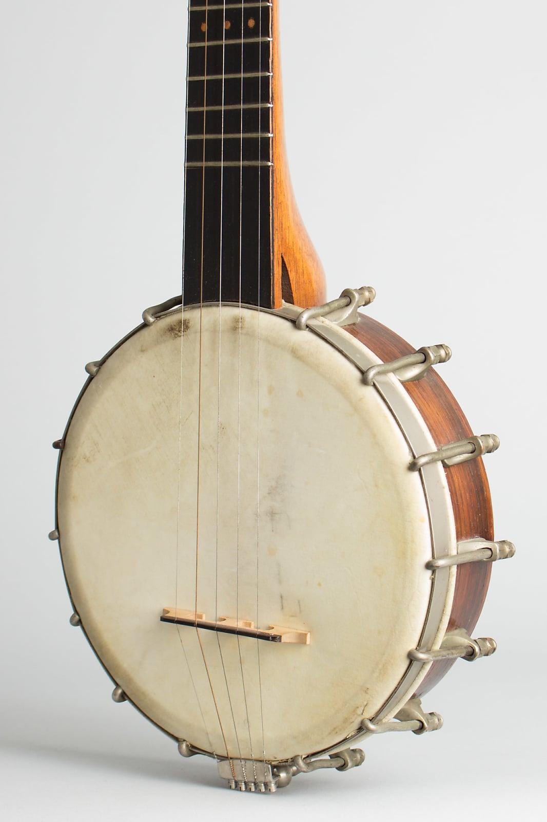 Pony Banjo (unlabelled) ,  c. 1890, NO CASE case.