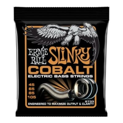 Ernie Ball 2733 Cobalt Hybrid Slinky Electric Bass Strings 45, 65, 85, 105