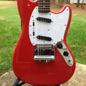Squier Vintage Modified Mustang Electric Guitar Fiesta Red