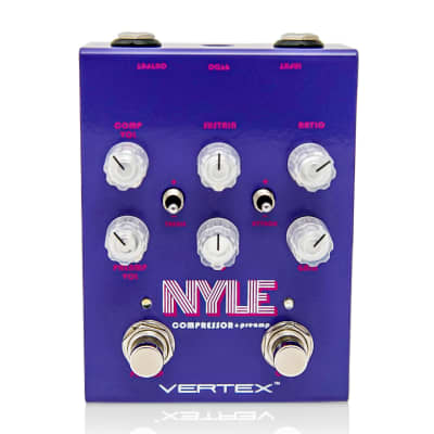New Vertex Nyle Compressor Preamp EQ Guitar Effects Pedal!