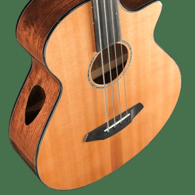 Breedlove Solo Series Jumbo Fretless Bass CE Red Cedar
