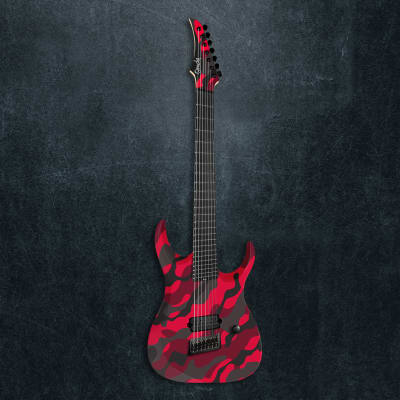 Ormsby DC GTR 7 string Multiscale 2020 Blood Camo for sale