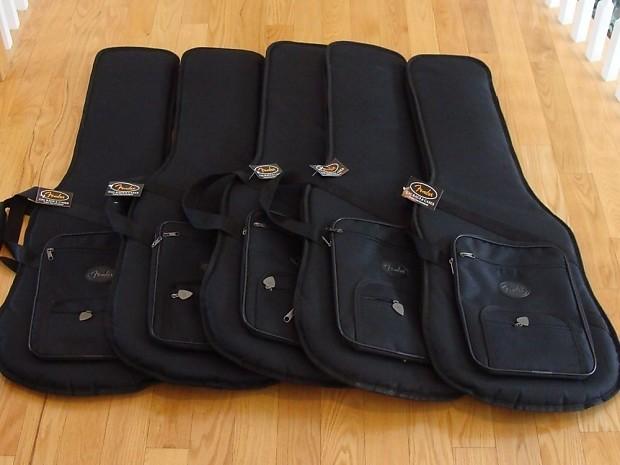 New Lot Of 5 Fender P Jazz Bass Gig Bags Guitar For Precison