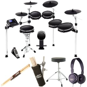 Alesis DM10 MKII Pro Kit | Ten-Piece Electronic Drum Kit with Mesh Heads + Throne + Headphone & More
