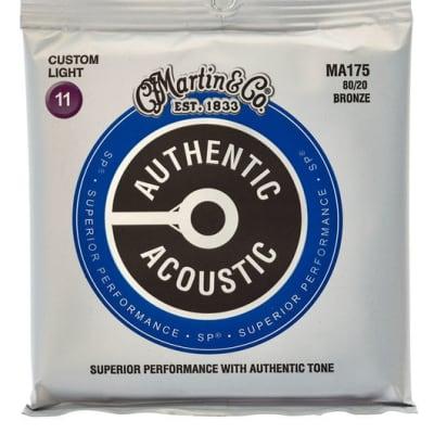 Martin MA175 Authentic Acoustic SP 80/20 Bronze Pour Guitare Acoustique - Custom Light (11 - 52)