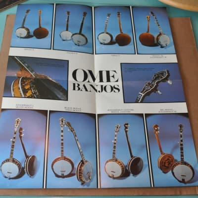 OME  Banjos vintage catalog booklet brochure. Poster 1970's? Very Good. for sale