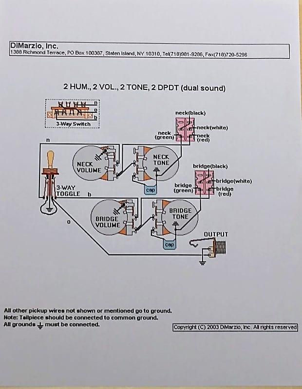 dimarzio dual sound wiring diagram dimarzio dual sound  cream  vintage humbucker pickups  reverb  vintage humbucker pickups
