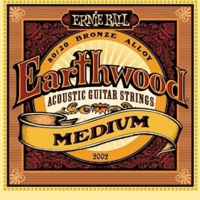 Ernie Ball Earthwood Medium 80/20 Bronze Acoustic Strings - 13-56 Gauge