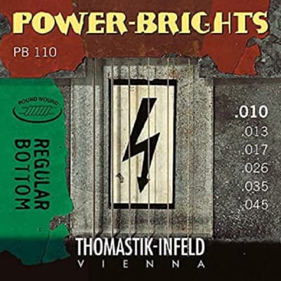 Thomastik PB110 Power Brights Round Wound Medium Light 10-45