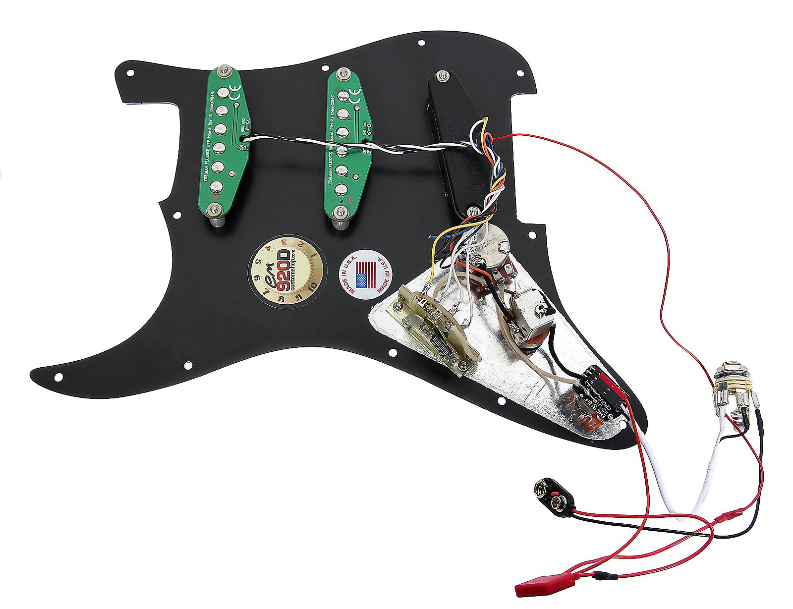 Fishman Fluence Mag Pickups Emg Strat Wiring Diagram Https Reverbcom Item 4038036 Pre Wired Spc Loaded Pickguard For Fender Stratocaster Bk