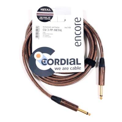 Cordial 3m /9.84' Premium High-Copper German Instrument Cable, Neutrik Connectors, CSI 3 PP-METAL