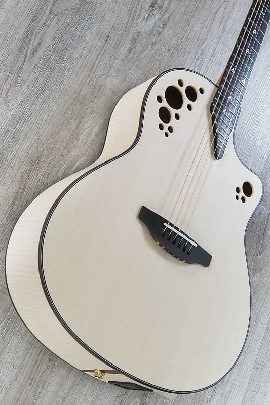 Ovation American Limited Edge California SR1 Grand Auditorium  Acoustic-Electric Guitar, Flame Maple