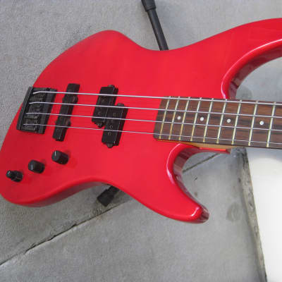 Guild SB-604 Pilot Bass Electric Bass. Pointy Headstock. Upgrades! 1984 Red for sale