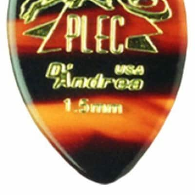 D'andrea Pro-Plec 358 SMALL POINTED 1.5mm shell Guitar Picks -12 pack 2015 Natural for sale