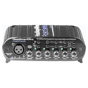 ART HeadAmp 4 Pro 4-Channel Headphone Amp with Talkback
