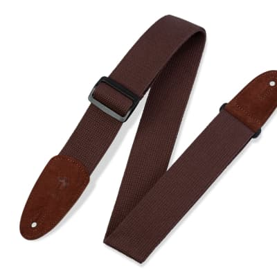 "Levy's MC8-BRN Cotton 2"" Guitar/Bass Strap"