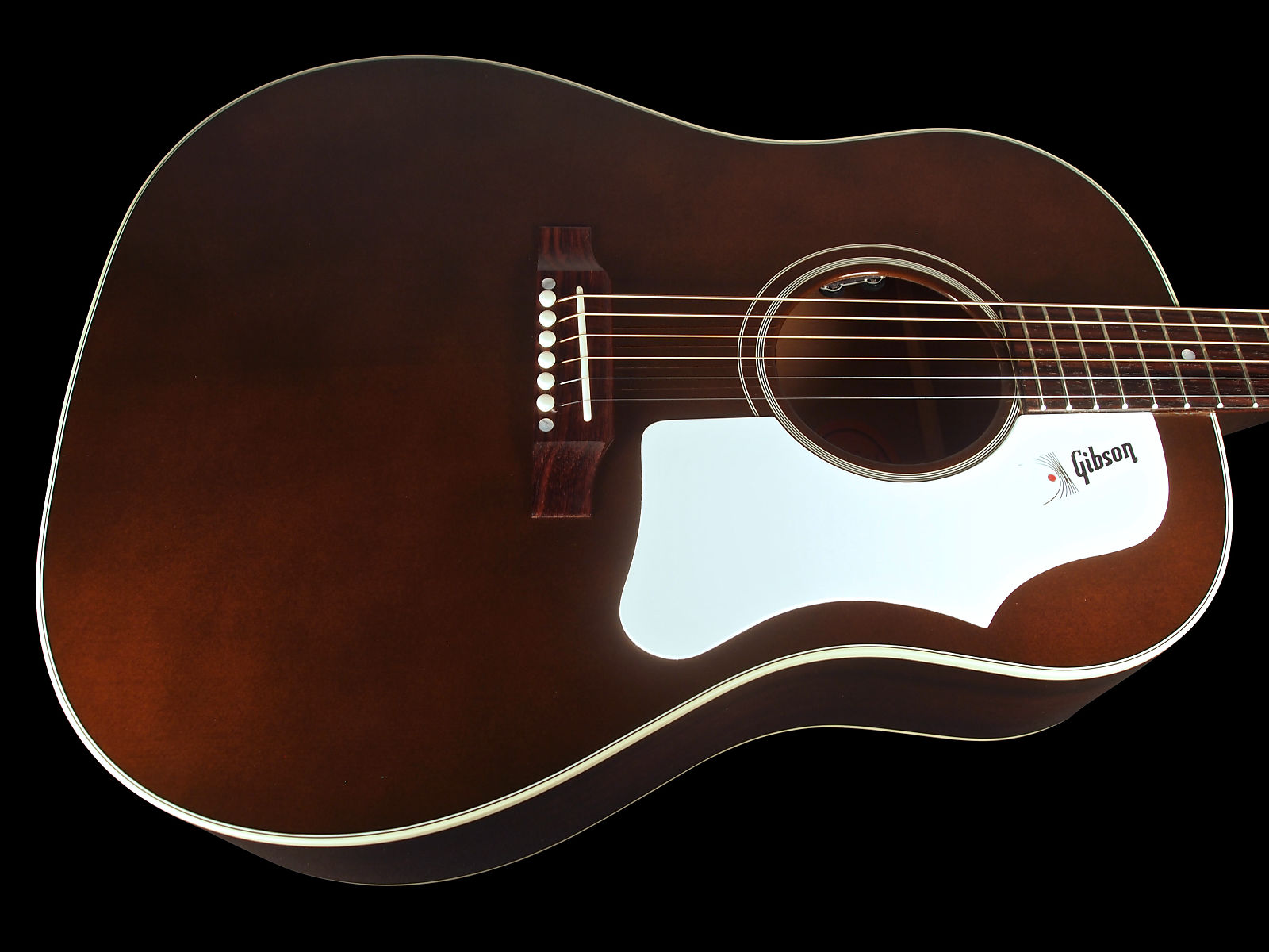 2017 gibson j 45 standard with lr baggs element pickup trans brown with white pick guard. Black Bedroom Furniture Sets. Home Design Ideas