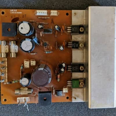 Akai AX80 Synthesizer Power Supply Board PCB - PARTS As Is