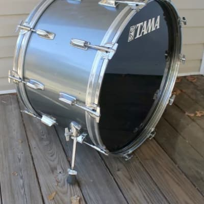 Tama Imperialstar 24x14 bass drum rerings Royal Pewter