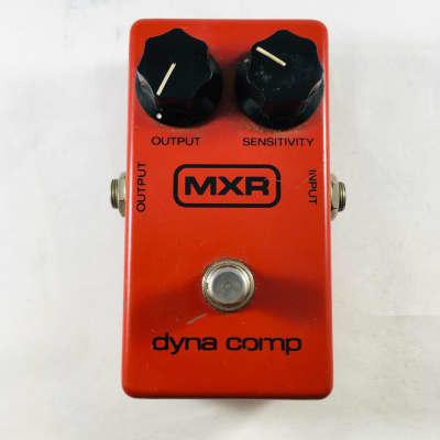 MXR Dyna Comp Block Logo 1978 Red
