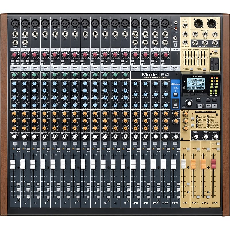 tascam model 24 digital mixer recorder and usb audio reverb. Black Bedroom Furniture Sets. Home Design Ideas