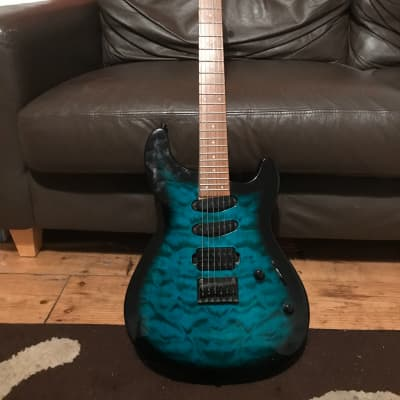 Fernandes Dragonfly X 2002 Graphic top blue burst for sale