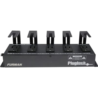 Furman PowerPlug 15A Power Distribution Strip (No Surge Protection), 5 Spaced Outlets w/Brackets