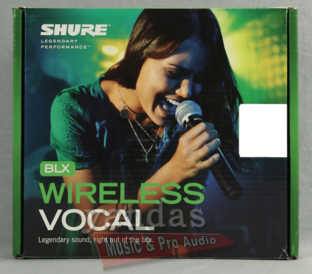 shure blx24 pg58 handheld vocal microphone wireless system reverb. Black Bedroom Furniture Sets. Home Design Ideas