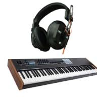 Arturia Keylab 88 MIDI/USB Keyboard -BLK w/ Analog Labs & Pair of NEW Fostex T50RP