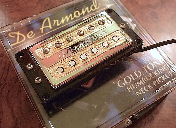 DeArmond Gold Tone Neck Humbucker Pickup | Jim's Music Glo on