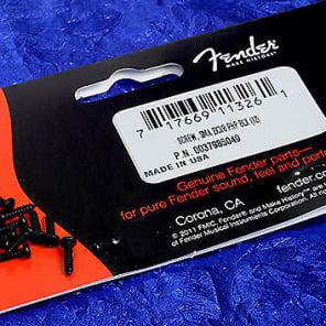 Genuine Fender Black Tuning Machine Mounting Screws, One Dozen 0037985049