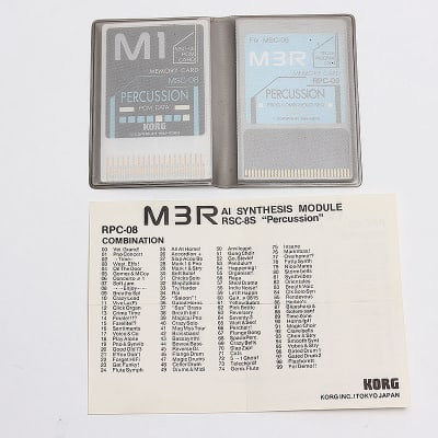 Korg M3R MSC-08 RPC-08 Percussion Memory Cards
