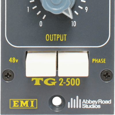 New Chandler Limited TG2 500 Preamp - Mono Microphone Preamplifer, 500 Series, EMI/Abbey Road Studio
