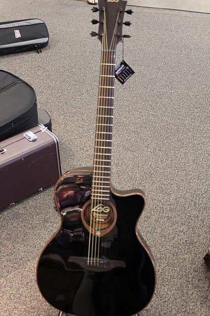lag guitars tramontane t100asceblk slim body reverb. Black Bedroom Furniture Sets. Home Design Ideas