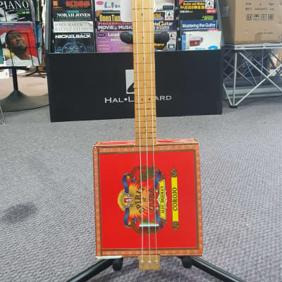Unbranded Spirit of Cuba Fretless 3 String Nylon String Cigar Box Guitar for sale