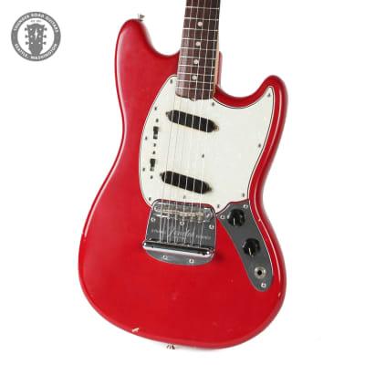 1965 Fender Fender Mustang in Dakota Red Slab Board for sale