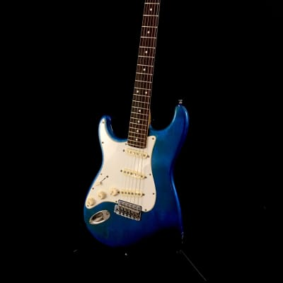 Lefty Luthier / Allparts Lake Placid Blue Nitro Strat Body SME Pickups Custom Relic Guitar ST63 L