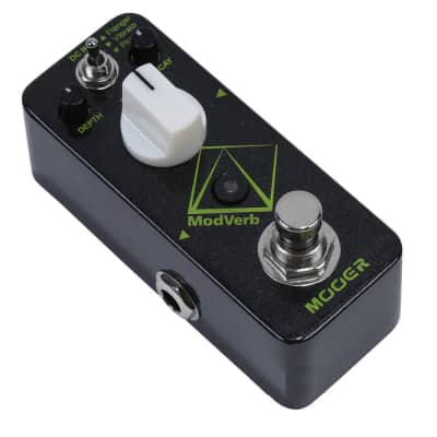 Mooer ModVerb Digital Flanger/Vibrato/Phaser +Reverb + TAP 3 Modes Open Box Free US Shipping