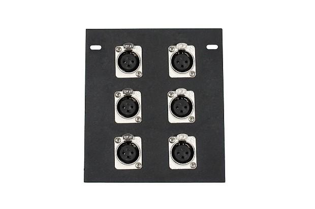 Elite Core Recessed Stage Floor Pocket Box W 6 Xlr Mic