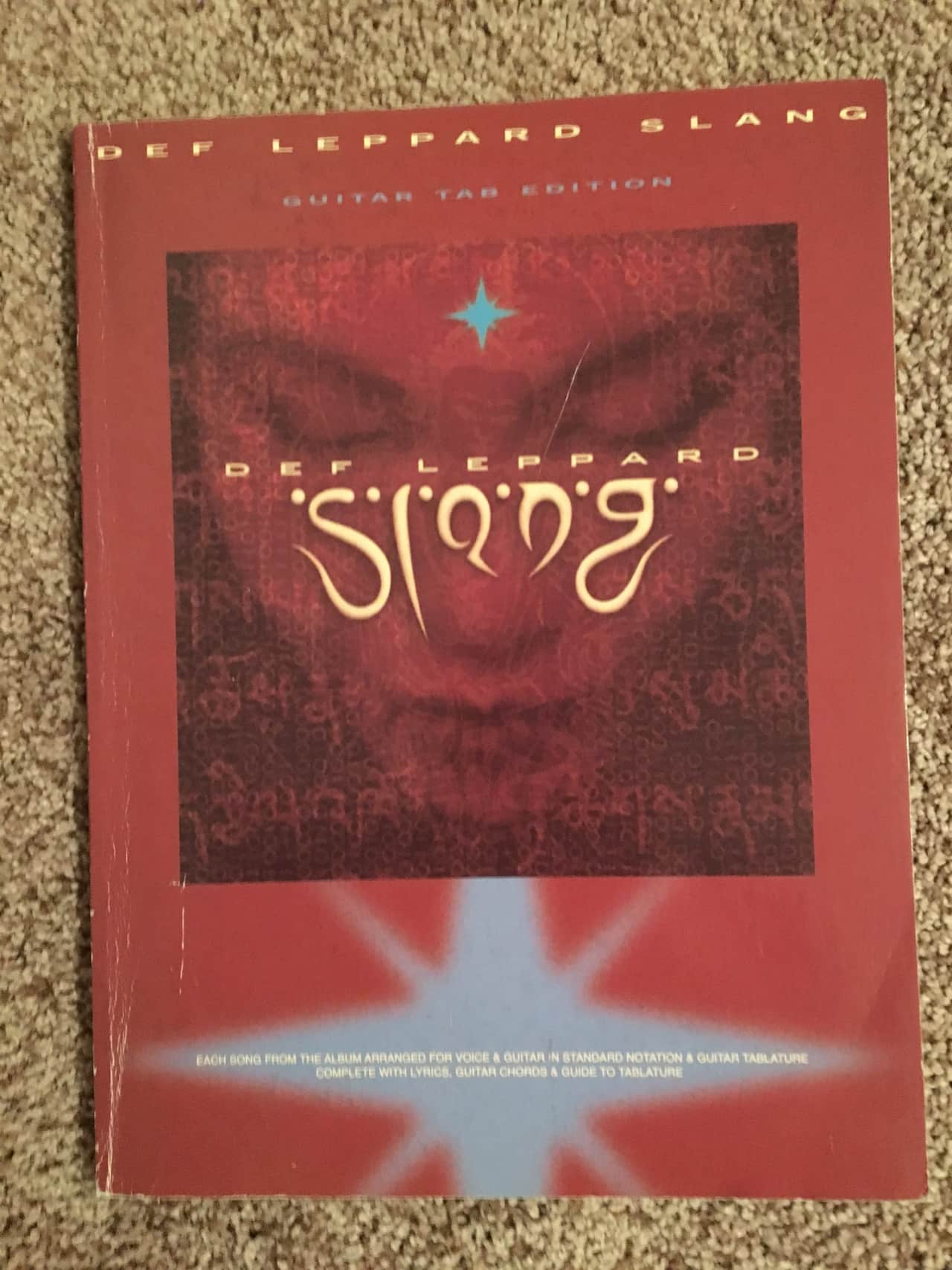 Def Leppard Slang Guitar Tab Tablature Book Reverb