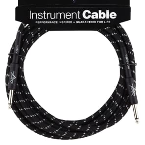 Fender Custom Shop Performance Series 18ft Angled Instrument Cable - Black Tweed for sale