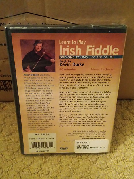 Learn To Play Irish Fiddle Taught by Kevin Burke DVD 1